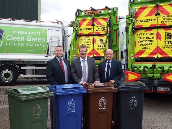 Tim White, Fleet Operations Manager, SFS; Steve Riley Executive Director (Environment), Hyndburn Borough Council; and Michael Ainsworth, Transport Manager, Hyndburn Borough Council
