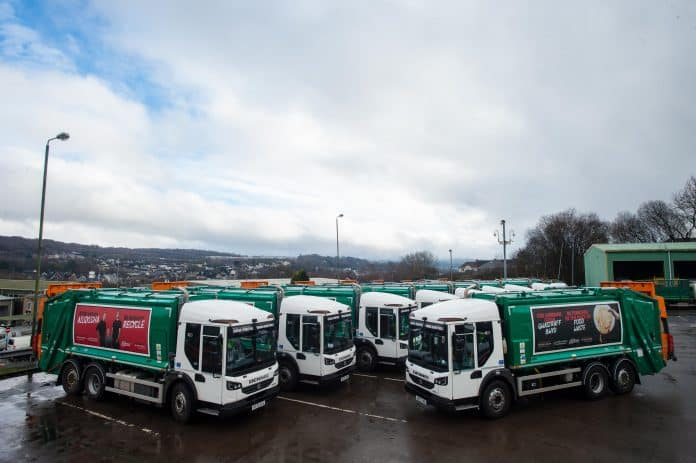 Caerphilly Council refuse vehicles, Tir-y-berth House